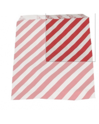 Slikpose, rød/hvid, papir, 1000 stk
