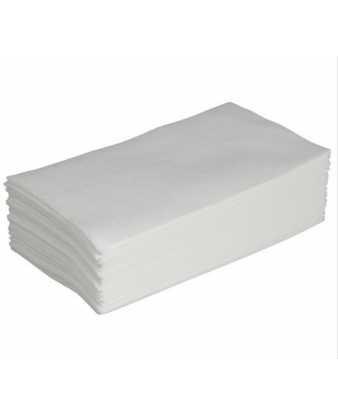 Serviet 2-lags 33 x 33 cm, Hvid, 2000 stk (1/8 foldet)