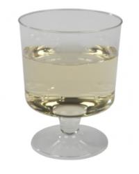 Hvidvinsglas, klar plast, 17 cl.