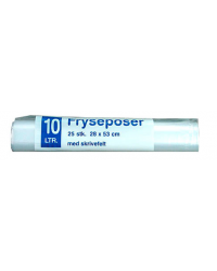 Frysepose 10 liter, 25 stk