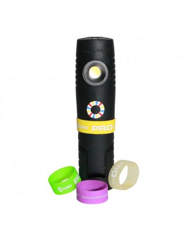 Elwis D6 Genopladelig COB LED håndlampe