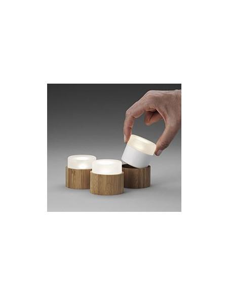 Duni LED mini, flerfarvede genopladelige lys, 8 stk
