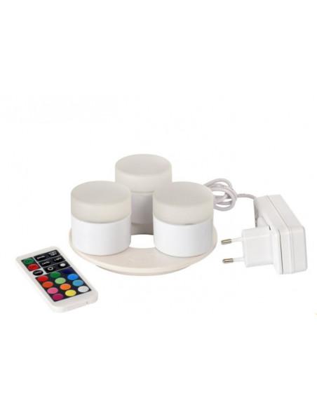 Duni LED Mini, flerfarvede genopladelige lys, 3 stk