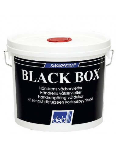 Renseserviet Deb Black Box, spand med 150 servietter