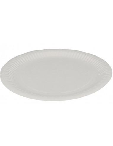 Paptallerken, hvid, Ø23 cm, 500 stk