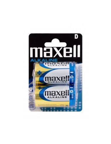 Maxell D / LR20 / Mono G batterier, 2 stk