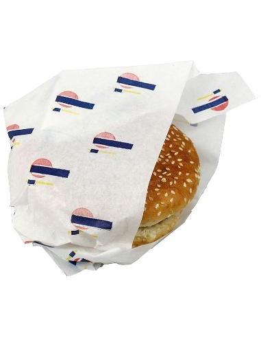 Sandwich/burgerpapir 33x40 cm, printet, 1000 stk