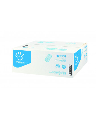 Håndklædeark Z-fold Hvid/natur 2-lag 4000 ark