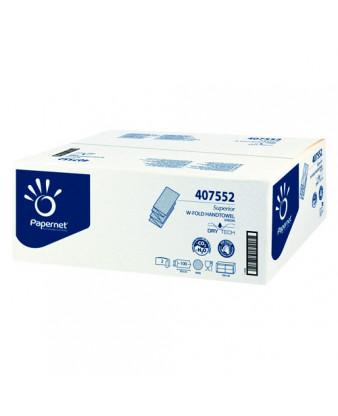 Håndklædeark W-fold Dry-Tech 2-lag 2000 ark