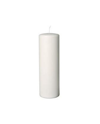Bloklys, hvid, 30 cm, Ø9, 60cm