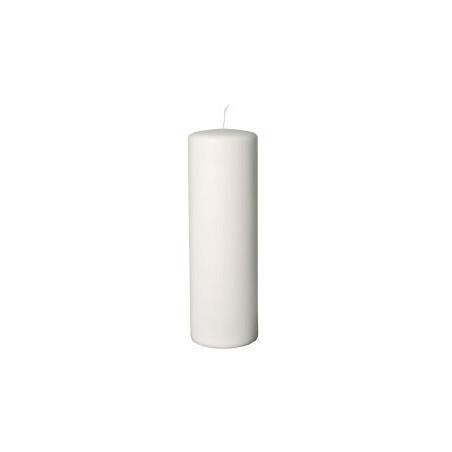 Bloklys, hvid, 30 cm, Ø9, 60cm, 6 stk