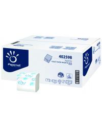 Toiletpapir i ark, 2-lag, Hvid, 9000 ark