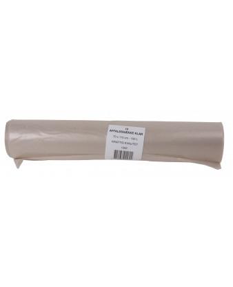 Plastsæk Klar 70x110cm, 55 my, 100 liter, 10 ruller