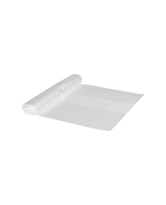 Plastpose klar HD 65x70cm, 50 liter, 28 ruller