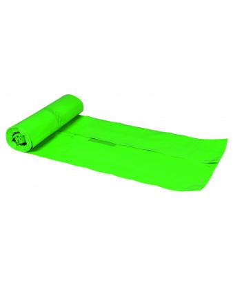 Plastsæk grøn 55x103cm 60my, 60 liter, 15 ruller