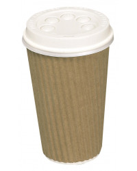 Kaffebæger, brun, Ripple W 36 cl.