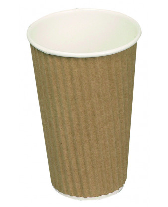 Kaffebæger, brun, Ripple W, 48 cl.