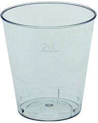 Snapseglas klar plast 2 cl.