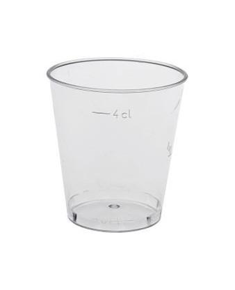 Shotglas, klar, 4 cl.
