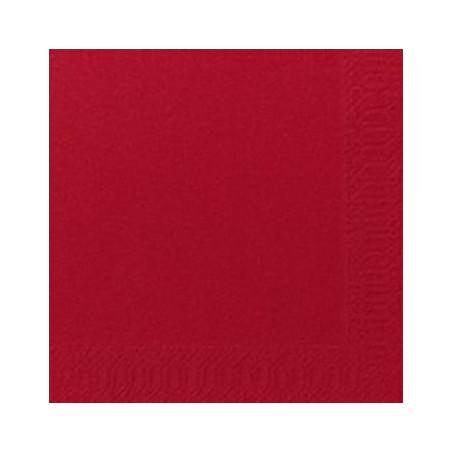 Airlaid serviet 40 x 40 cm, Rød