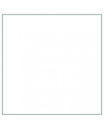 Serviet 3-lags 33 x 33 cm, Hvid