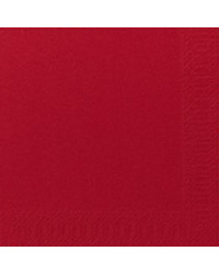 Serviet 3-lags 33 x 33 cm, Rød