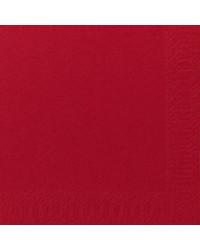 Serviet 3-lags 40 x 40 cm, Rød, 1000 stk (1/8 foldet)