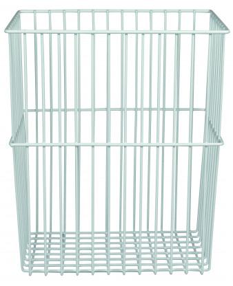 Trådstativ til vægmontering, 30 liter, hvid