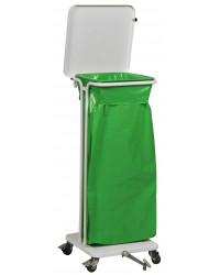 Sækko-Boy med låg og pedal 60 liter, Hvid