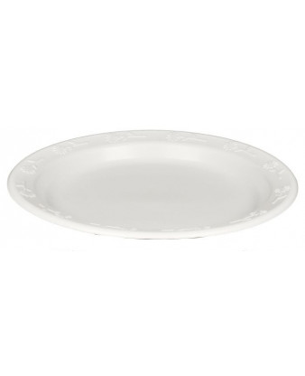 Plasttallerken 23 cm. Hvid Luksus