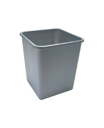Papirkurv grå plast, 25 liter