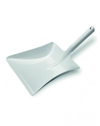 Fejebakke i hvid metal, 24x37 cm.