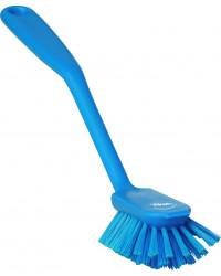 Opvaskebørste m.skrabekant, medium, blå