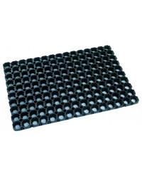 Gummi Ringmåtte sort 80 x 120 cm.