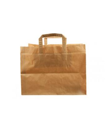 Papirspose med hank, brun, 21 liter, 250 stk