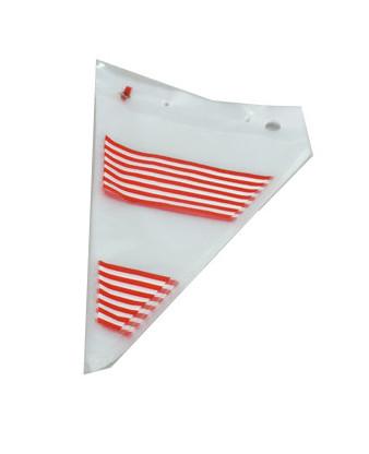 Slikpose klar plast med striber 20x31cm 1000 stk
