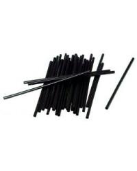 Sugerør sort m. knæk ø0,5x24,5cm 250 stk