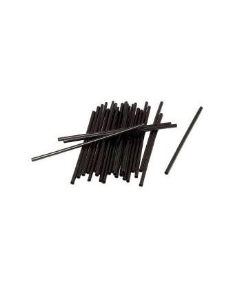 Sugerør, sort u. knæk 8x153mm, 500 stk