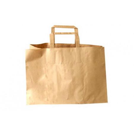 Papirspose med hank, brun, 17 liter, 200 stk
