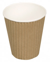 Kaffebæger brun Ripple W, 24cl.1000 st