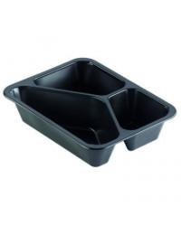 Duni Plastbakke 3-rum, 530/325 ml, 216 stk