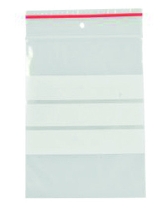 Lynlåspose 12 x 18 cm, med skrivefelt, 200 stk