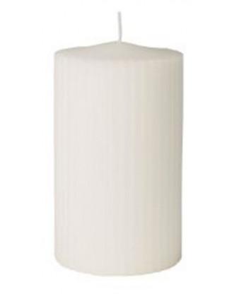 Bloklys hvid, rillet Ø7x18 cm 12 stk