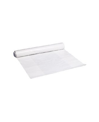 Plastsæk Hvid 55x103 cm 60 my 60 liter, 15 ruller