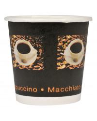 Kaffebæger Singlewall Sort 24 cl, 1000 stk