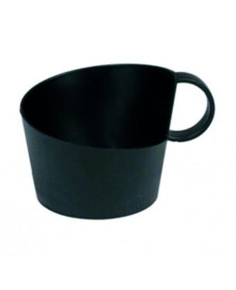 Kopholder, sort, med hank, plast, 12 stk