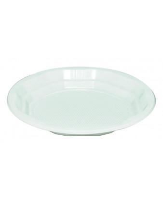 Plasttallerken, hvid, 17 cm, 1000 stk PS