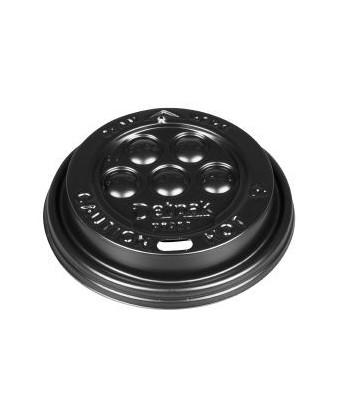 Låg til kaffebæger 30-48 cl, Sort, 1000 stk