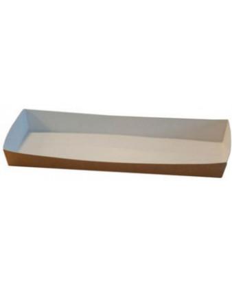 Pølsebakke med kant, 9 x 20 cm. 600 stk