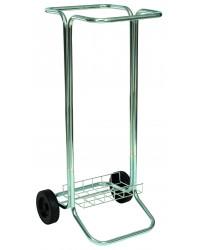 Affaldsstativ med hjul, stål, 100 liter